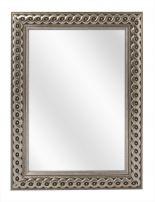 Spiegel met Gevlochten Houten Lijst - Zilver - 53 x 73 cm - Lijstbreedte: 30 mm