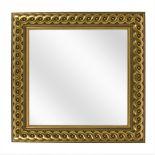 Spiegel met Gevlochten Houten Lijst - Goud - 53 x 53 cm - Lijstbreedte: 30 mm