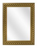 Spiegel met Gevlochten Houten Lijst - Goud - 53 x 73 cm - Lijstbreedte: 30 mm